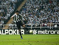 Photo: Andrew Unwin.<br /> Newcastle United v Glasgow Celtic. Alan Shearer Testimonial. 11/05/2006.<br /> Newcastle's Albert Luque scores his team's first goal.