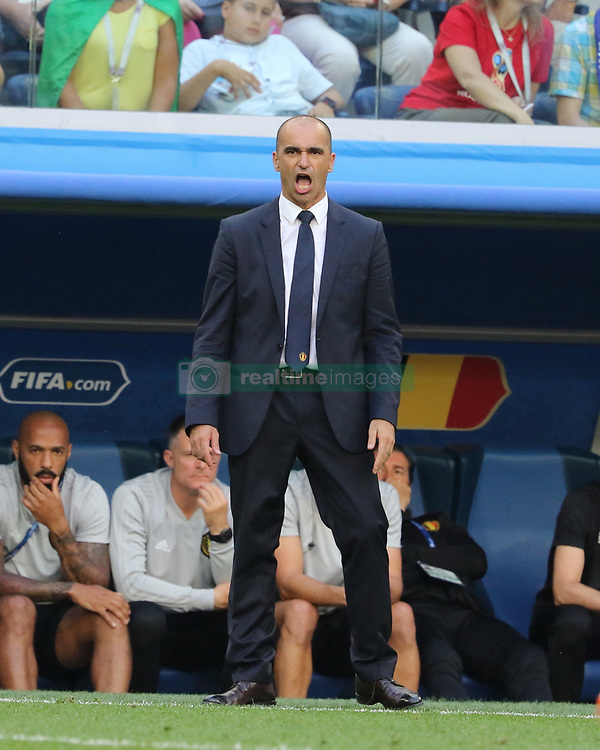 July 14, 2018 - St. Petersburg, Russia - July 14, 2018, St. Petersburg, FIFA World Cup 2018, Football match for the third place in the World Cup. Football match of Belgium - England at the stadium of St. Petersburg. Player of the national team Roberto Martinez; Main coach; (Credit Image: © Russian Look via ZUMA Wire)