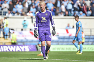 Oxford United goalkeeper (on loan from Derby County) Jonathan Mitchell (41) looks dejected after conceding a penalty during the EFL Sky Bet League 1 match between Oxford United and Coventry City at the Kassam Stadium, Oxford, England on 9 September 2018.