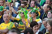 Kerry fans celebrate their victory over Donegal in the All-Ireland Football Final  in Croke Park 2014.<br /> Photo: Don MacMonagle<br /> <br /> <br /> Photo: Don MacMonagle <br /> e: info@macmonagle.com