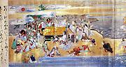Death of Buddha, Pari Nirvana.  Episode from 18th century Japanese manuscript scroll.