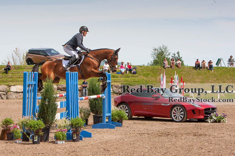 Buck Davidson (USA) and Be Mine at the 2014 Jaguar Land Rover Bromont International Three Day Event in Bromont, Quebec.