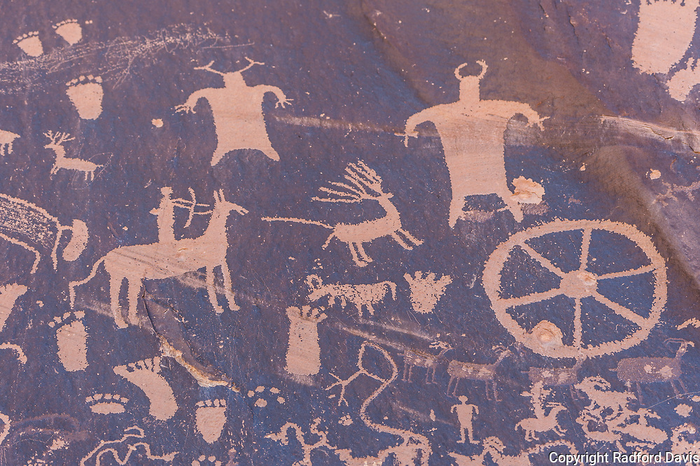 Bears Ears National Monument petroglyphs. Newspaper Rock.