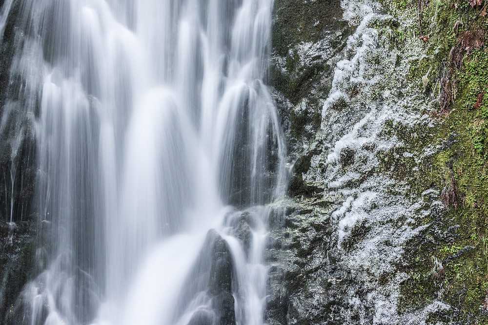 Madison Creek Falls, early December, Elwha River Valley, Olympic National Park, WA, USA