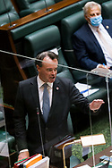 Opposition Leader Michael O'Brien attacks the Government during Question Time.