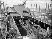 1954 - 26/08 Irish Fern being built for Irish Shipping Ltd 26/08/1954<br />