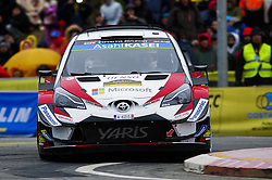 October 28, 2018 - Barcelona, Catalonia, Spain - The Finnish driver Esapekka Lappi and his co-driver Janne Ferm, of Toyota Gazoo Racing WRT during the last day of WRC Rally Racc Catalunya Costa Daurada, on October 28, 2018 in Salou, Spain. (Credit Image: © Joan Cros/NurPhoto via ZUMA Press)