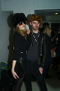 BETSY HUMPHREY AND LEVI PALMER, Unveiling of the Vivienne Westwood Opus. Hosted by Vivienne Westwood and Karl Fowler of Kraken Opus. Serpentine Gallery. London. 12 February 2008.  *** Local Caption *** -DO NOT ARCHIVE-© Copyright Photograph by Dafydd Jones. 248 Clapham Rd. London SW9 0PZ. Tel 0207 820 0771. www.dafjones.com.