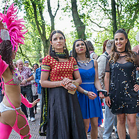Nederland, Amsterdam, 30 juli 2017.<br /> De PakistaanseTransgender Kami Choudry (midden) voor de Oosterbar Generator (Mauritskade 57, bij het Oosterpark) tijdens de opening van de Transpride.<br /> Foto: Jean-Pierre Jans<br /> <br /> The Netherlands, Amsterdam, July 30, 2017. <br /> The Pakistani Transgender Kami Choudry (Middle) in front of the Oosterbar Generator (Mauritskade 57, at the Oosterpark) during the Transpride opening.<br /> Photo: Jean-Pierre Jans