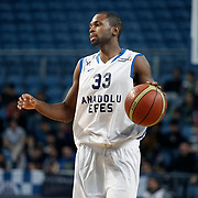 Anadolu Efes's Oliver Lafayette during their Turkish Basketball League match Anadolu Efes between Erdemir at Arena in Istanbul, Turkey, Wednesday, January 28, 2012. Photo by TURKPIX