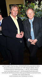 Left to right, Comic duo JOHN FORTUNE and JOHN BIRD, at a luncheon in London on 18th March 2003.	PIB 47