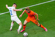 Lukas Masopust of Czech Republic battles for possession with Matthijs de Ligt of the Netherlands during the UEFA Euro 2020, Round of 16 football match between Netherlands and Czech Republic on June 27, 2021 at Puskas Arena in Budapest, Hungary - Photo Andre Weening / Orange Pictures / ProSportsImages / DPPI