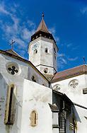 Fortified Saxon church at Prejmer, a UNESCO World Heritage Site, near Brasov, Transylvania, Romania