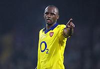 Fotball<br /> Premier League England 2004/2005<br /> Foto: Colorsport/Digitalsport<br /> NORWAY ONLY<br /> <br /> 06.11.2004<br /> Patrick Vieira (Arsenal).<br /> <br /> Crystal Palace v Arsenal