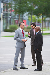 Multiracial Group businessmen meeting Cooperation