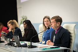 4 December 2019, Madrid, Spain: Bishop Philip Huggins from the Anglican Church of Australia and the National Council of Churches Australia speaks at a press conference held at COP25, reporting on the findings of an interfaith dialogue on 1 December.