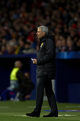 November 6, 2018 - Madrid, Spain - Lucien Favre of Borussia Dortmund during the Group A match of the UEFA Champions League between AtleticoLucien Favre of Borussia Dortmund Madrid and Borussia Dortmund at Wanda Metropolitano Stadium, Madrid on November 07 of 2018. (Credit Image: © Jose Breton/NurPhoto via ZUMA Press)