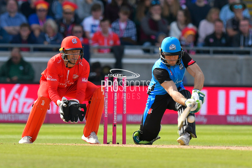 Ben Cox of Worcestershire batting during the Vitality T20 Finals Day Semi Final 2018 match between Worcestershire Rapids and Lancashire Lightning at Edgbaston, Birmingham, United Kingdom on 15 September 2018.