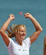 Eton Dorney, Windsor, Great Britain,..2012 London Olympic Regatta, Dorney Lake. Eton Rowing Centre, Berkshire.  Dorney Lake.  .Women's Single Sculls, Medals. CZE W1X Mirca KNAPKOVE. .13:11:26  Saturday  04/08/2012 [Mandatory Credit: Peter Spurrier/Intersport Images]