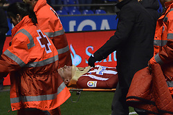 March 2, 2017 - La Coruna, Spain - Fernando Torres is taken away from the field La Liga Santander Matchday 25. Riazorr Stadium, La Coruna, Spain. March 02, 2017. (Credit Image: © Monica Arcay Carro/VW Pics via ZUMA Wire/ZUMAPRESS.com)