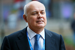 © Licensed to London News Pictures. 07/10/2015. Manchester, UK. Work and Pensions Secretary IAIN DUNCAN SMITH arriving Conservative Party Conference at Manchester Central convention centre on Wednesday, 7 October 2015. Photo credit: Tolga Akmen/LNP