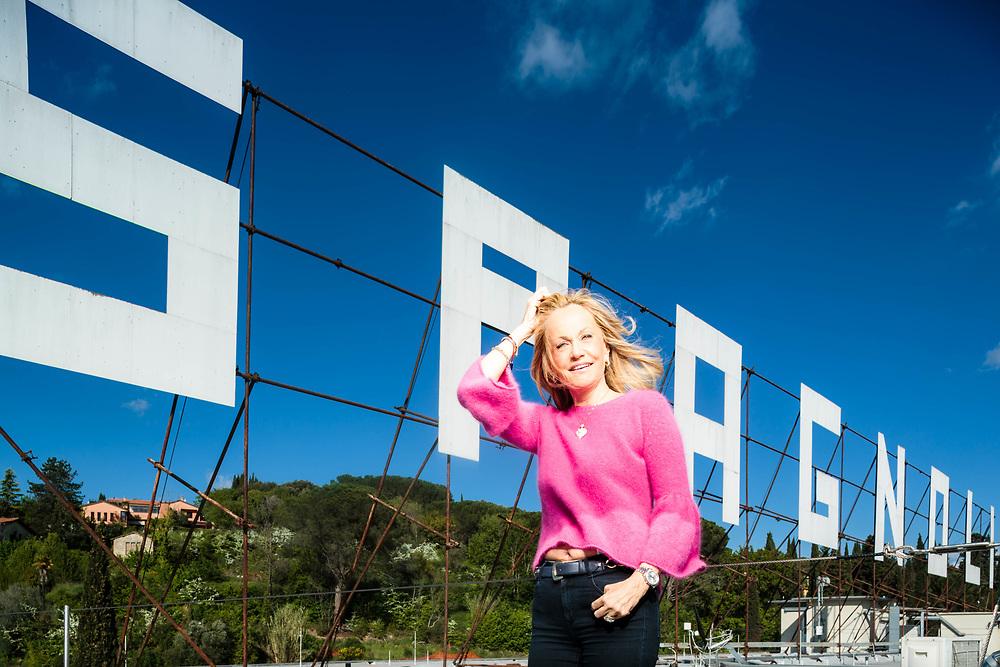 """19 APR 2016 - Perugia - """"Luisa Spagnoli"""", abbigliamento: Nicoletta Spagnoli, AD e presidente. :-: Perugia, Italy - Nicoletta Spagnoli, CEO of """"Luisa Spagnoli"""" fashion house."""