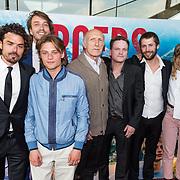 NLD/Amsterdam/20170522 - Premiere film Broers, Bram Schouw, Jonas Smulders, Rufus, Niels Gomperts en Christa Teret