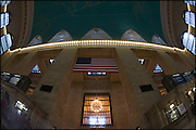 Looking up in Grand Central Terminal, New York City, USA