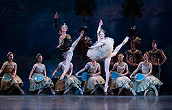 La Bayadere <br /> A ballet in three acts <br /> Choreography by Natalia Makarova <br /> After Marius Petipa <br /> The Royal Ballet <br /> At The Royal Opera House, Covent Garden, London, Great Britain <br /> General Rehearsal <br /> 30th October 2018 <br /> <br /> STRICT EMBARGO ON PICTURES UNTIL 2230HRS ON THURSDAY 1ST NOVEMBER 2018 <br /> <br /> Vadim Muntagirov as Solor <br /> A warrior <br /> <br /> Natalia Osipova as Gamzatti <br /> <br /> <br /> Photograph by Elliott Franks Royal Ballet's Live Cinema Season - La Bayadere is being screened in cinemas around the world on Tuesday 13th November 2018 <br /> --------------------------------------------------------------------
