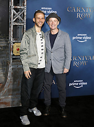 Dominic Monaghan and Billy Boyd at the Los Angeles premiere of Amazon's 'Carnival Row' held at the TCL Chinese Theatre in Hollywood, USA on August 21, 2019.