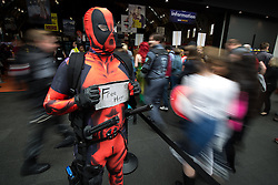 © Licensed to London News Pictures . 26/07/2015 . Manchester , UK . Attendees arriving at the venue . Comic Con convention at Manchester Central Convention Centre . Photo credit : Joel Goodman/LNP