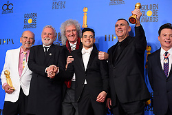 January 6, 2019 - Los Angeles, California, U.S. - Jim Beach, Roger Taylor, Brian May, Rami Malek, Graham King and Mike Myers in the Press Room during the 76th Annual Golden Globe Awards at The Beverly Hilton Hotel. (Credit Image: © Kevin Sullivan via ZUMA Wire)