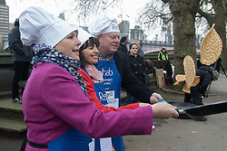 Victoria Tower Gardens, Westminster, February 9th 2016. Members of the House of Lords and Parliament compete against leading figures from the media in the annual Pancake Day race that in aid of the charity Rehab. PICTURED: . ///FOR LICENCING CONTACT: paul@pauldaveycreative.co.uk TEL:+44 (0) 7966 016 296 or +44 (0) 20 8969 6875. ©2015 Paul R Davey. All rights reserved.
