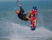 Kite boarding on Lake Michigan in Door County, Wisconsin.  Photo by Mike Roemer