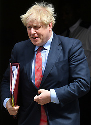 © Licensed to London News Pictures. 15/07/2020. London, UK. British Prime Minister Boris Johnson leaves Downing St to attend Prime Minister's Question time in the Houses of Parliament. Photo credit: Ray Tang/LNP