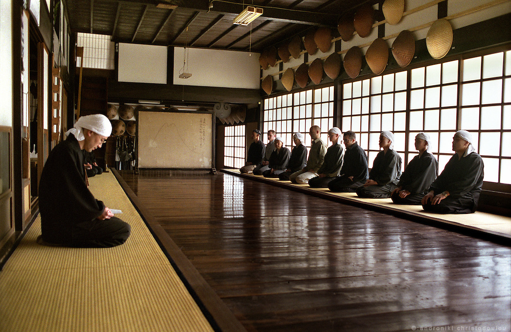 """LIVING ZEN - HOSHINJI MONASTERY, OBAMA-JAPAN..After breakfast everyone is given work """"soji"""" to do as part of the monastic practice, as the """"Zazen in everyday life""""."""