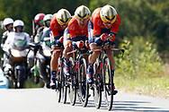 Team Bahrain - Merida during the Tour de France 2018, Stage 3, Team Time Trial, Cholet-Cholet (35 km) on July 9th, 2018 - Photo Luca Bettini/ BettiniPhoto / ProSportsImages / DPPI