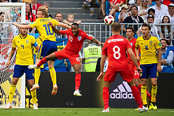 July 7, 2018 - Samara, Russia - 180707 Emil Forsberg of Sweden and Raheem Sterling of England competes for the ball during the FIFA World Cup quarter final match between Sweden and England on July 7, 2018 in Samara..Photo: Petter Arvidson / BILDBYRÃ…N / kod PA / 92083 (Credit Image: © Petter Arvidson/Bildbyran via ZUMA Press)
