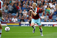 Ben Mee of Burnley in action. Skybet football league championship match, Burnley  v Brentford at Turf Moor in Burnley, Lancs on Saturday 22nd August 2015.<br /> pic by Chris Stading, Andrew Orchard sports photography.