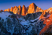 Mount Whitney in the Sierra Nevada range in California