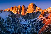 Mount Whitney in the Sierra Nevada range in California