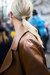 Karlie Kloss is seen during Paris Fashion Week Womenswear Fall/Winter 2018/2019, on March 4, 2018 in Paris, France.  (Photo by Nataliya Petrova/NurPhoto/Sipa USA)
