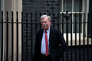 US National Security Adviser, John Bolton arrives at Downing Street in London, United Kingdom on 13th August 2019.
