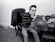 Ian Dury and the Blockheads - backstage 1980