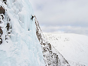 Ben Bransby leading Last Post, V, Creag Meagaidh, Scottish Highlands