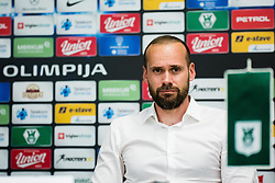 Dino Skender head coach of NK Olimpija during football match between NK Olimpija Ljubljana and NK Maribor in 30. Round of Prva liga Telekom Slovenije 2019/20, on June 28. 2020 in Stadion Stozice, Ljubljana, Slovenia. Photo by Grega Valancic / Sportida