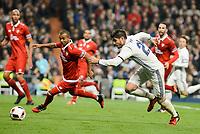 Real Madrid's Alvaro Morata and Sevilla FC's Mariano Ferreira during Copa del Rey match between Real Madrid and Sevilla FC at Santiago Bernabeu Stadium in Madrid, Spain. January 04, 2017. (ALTERPHOTOS/BorjaB.Hojas)