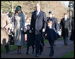 December 25, 2019, Sandringham, London, United Kingdom: Image licensed to i-Images Picture Agency. 25/12/2019. Sandringham, United Kingdom. Duke and Duchess of Cambridge with Prince George and Princess Charlotte arriving at  the Christmas Day church service at Sandringham in Norfolk, United Kingdom. (Credit Image: © Stephen Lock/i-Images via ZUMA Press)