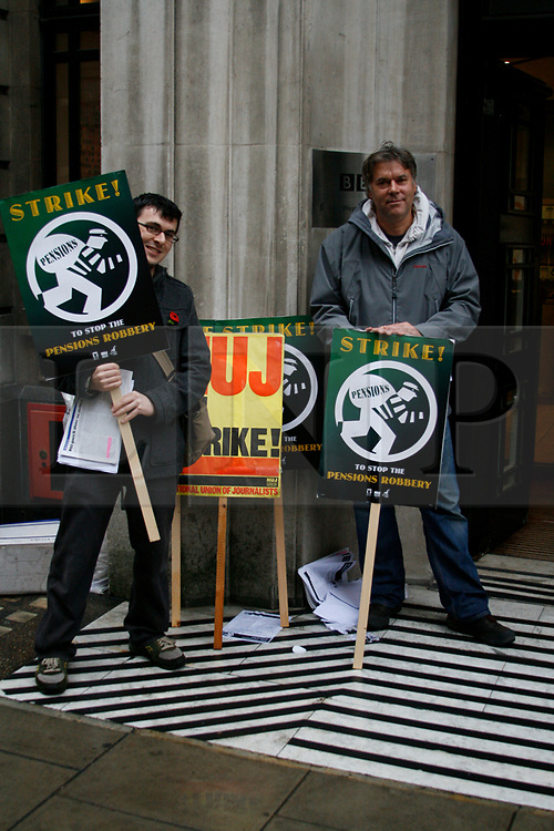 BBC Strike, NUJ Members picket BBC Radio Western House London