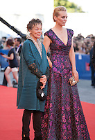 Laurie Anderson and Nina Hoss at the opening ceremony and premiere of the film La La Land at the 73rd Venice Film Festival, Sala Grande on Wednesday August 31st, 2016, Venice Lido, Italy.